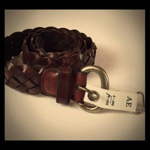 American eagle braided leather belt s/m